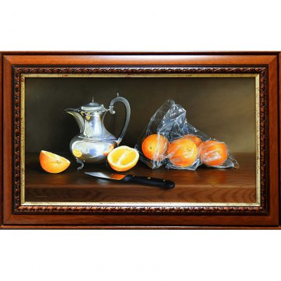 Cornthwaite – Silver Pot with Oranges